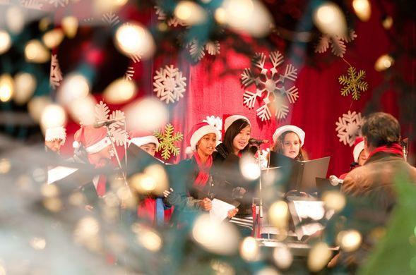Concierto navideño en Mundo E
